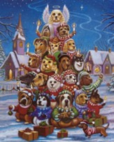 Canine Christmas Jigsaw Puzzle, 1000 Pieces