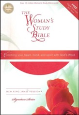 NKJV The Woman's Study Bible, Imitation Leather, Pink/Charcoal Indexed