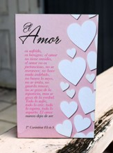 El amor, Placa de madera (Love, Wood Plaque)