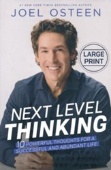 Next Level Thinking: 10 Powerful Thoughts for a  Successful and Abundant Life, Large Print - Slightly Imperfect
