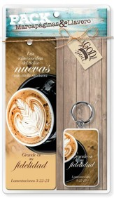 Juego de Marcador y Llavero - Grande es tu fidelidad (Great is Your Faithfulness, Bookmark & Keychain Gift Set)