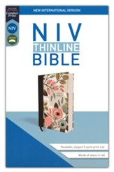 NIV Thinline Bible, Cloth over Board, Comfort Print, Floral