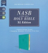 NASB 1995 XL Bible, Comfort Print--soft leather-look, teal