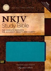 The NKJV Study Bible, Imitation Leather, Blue, Indexed