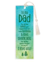 To My Dad Bookmark