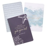 Give You Rest Notebooks, Set of 3