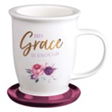 His Grace is Enough Mug with Lid, with Gift Box