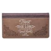 Trust in the Lord Checkbook Cover, Brown