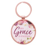 His Grace is Enough Keyring with Tin