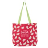 Sweet to Trust in Jesus Canvas Tote