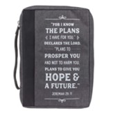 I Know the Plans Value Bible Cover, Gray, Medium