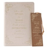 When She Speaks, Journal and Bookmark Gift Set