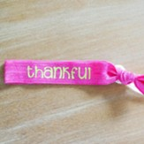 Thankful Hair Tie Bracelet, Neon Pink