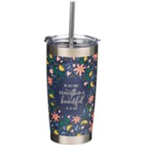 Everything Beautiful Stainless Steel Travel Mug With Straw