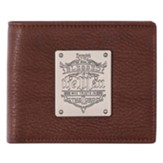 Blessed Is The Man Leather Wallet