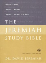 ESV Jeremiah Study Bible, hardcover - Slightly Imperfect