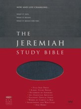 NKJV Jeremiah Study Bible--soft leather-look, majestic black (indexed)