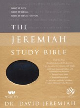 ESV Jeremiah Study Bible--soft leather-look, majestic black (indexed)