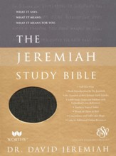 ESV Jeremiah Study Bible--soft leather-look, bronze
