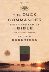 NKJV Duck Commander Faith & Family Bible, Soft  leather-look, Green/Brown - Slightly Imperfect