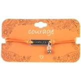 Courage Orange String Bracelet with Charm