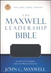 NKJV Maxwell Leadership Bible Bonded Black Updated  - Slightly Imperfect