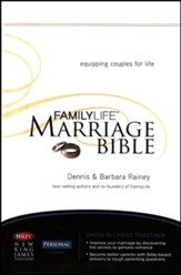 The NKJV FamilyLife Marriage Bible - Burgundy LeatherSoft Edition - Slightly Imperfect