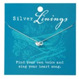 Songbird Necklace, Silver