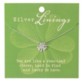 Four-Leaf Clover Necklace, Silver