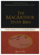 NASB MacArthur Study Bible, Revised and updated, Imitation leather, black/terracotta - Slightly Imperfect