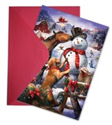 Winter Farm Fun Greeting Card Advent Calendar