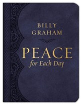 Peace for Each Day, Large-Print--soft leather-look, gray