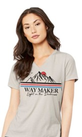 Way Maker T-Shirt, Women's Cut, Tan, Large