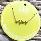 Mom, Script Necklace