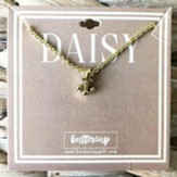 Daisy Anchor Necklace, Gold Plated