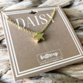 Daisy Star Necklace, Gold Plated