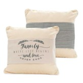 Family Where Life Begins and Love Never Ends Pillow Jacket