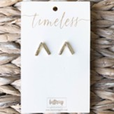 Kourtney Arrow Earrings, Gold Plated