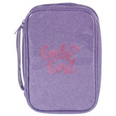 God's Girl Bible Cover, Purple and Pink, Large