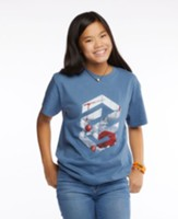 Concrete & Cranes: Teen Construction T-Shirt, Adult Small