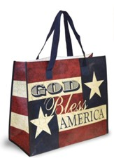 God Bless America Tote Bag, Big Stars