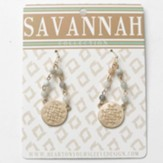 Gigi Drop Earrings, Gold Dipped, Savannah Collection