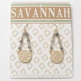 Pewter Drop Earrings, Gold Dipped, Savannah Collection