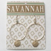Gigi Hoop Earrings, Gold Dipped, Savannah Collection