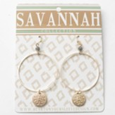 Pewter Hoop Earrings, Gold Dipped, Savannah Collection