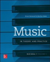 Music in Theory and Practice, Volume 1 - 9th Edition