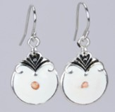 Rounded Mustard Seed Drop Earrings,  Silver