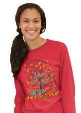 I Will Rejoice and Be Glad In It, Long Sleeve Shirt Red, Small