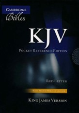 KJV Pocket Reference Bible--French Moroccan leather, black (indexed)