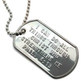 I Can Do All Things, Phillipians 4:13 Dog Tag